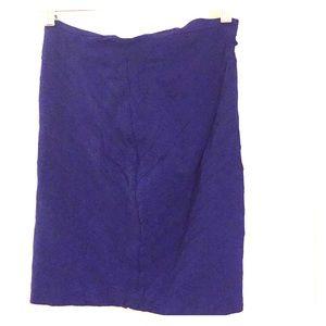 Blue stretchy skirt